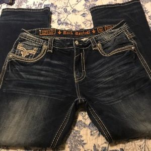 Rock Revival men's Ronald Straight jeans 38 x33